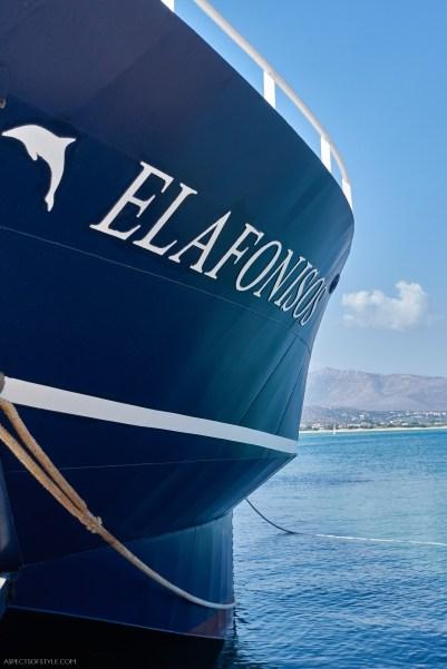 Elafonisos ferry boat