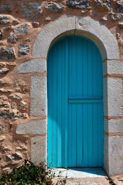 door in Areopoli, Mani, Peloponnese, Greece