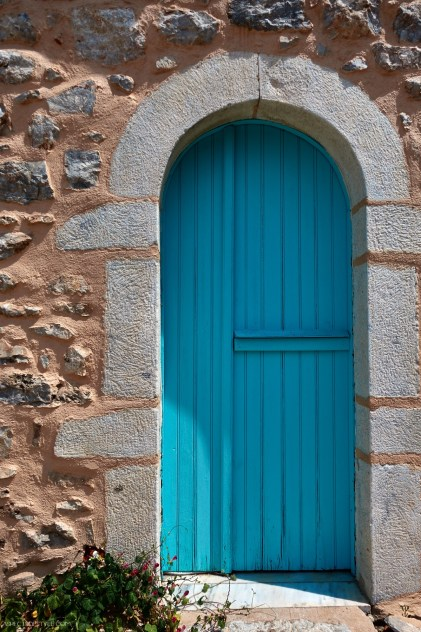 door in Areopoli, Mani, Peloponnese, Greece