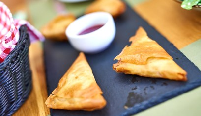 Phyllo dough pies with avocado, Kritamon Chania