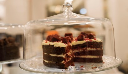 Red Velvet cake at B Madame, Kolonaki