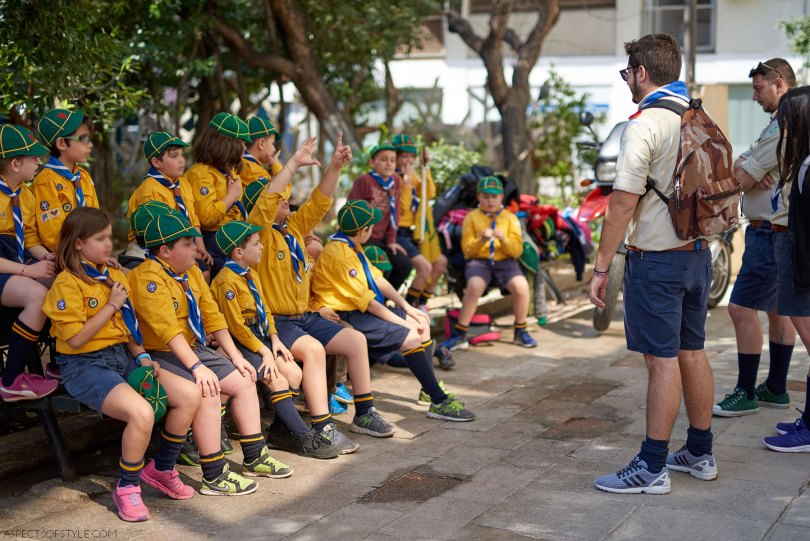 Scouts in Pagrati, Athens