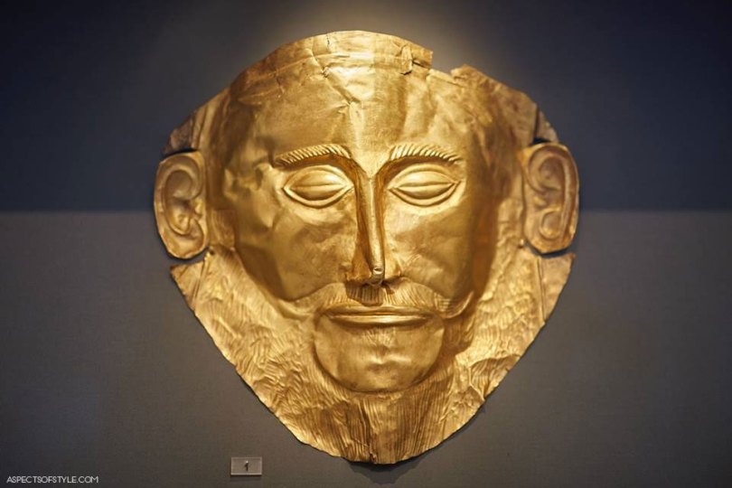 gold mask from Mycenae, Archaeological Museum in Athens