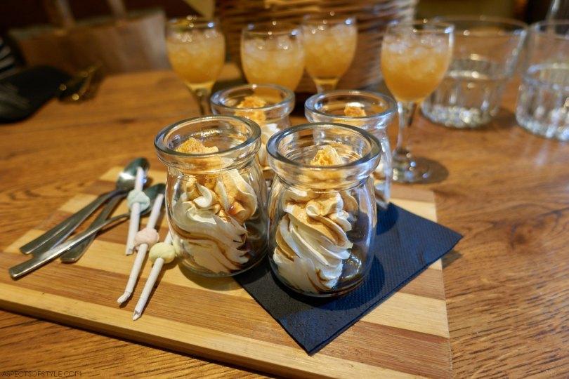 dessert at Peskesi restaurant, Heraklion Crete