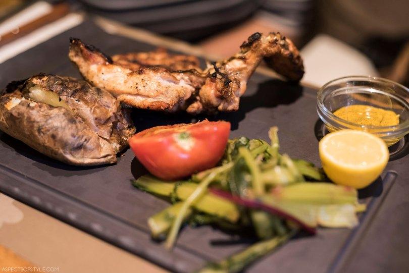 grilled chicken at eskesi restaurant, Heraklion Crete