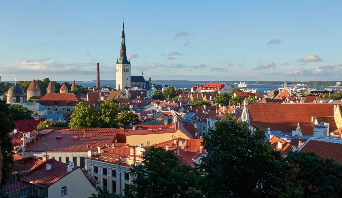 View from Kohtuotsa viewing platform, Tallinn, Estonia