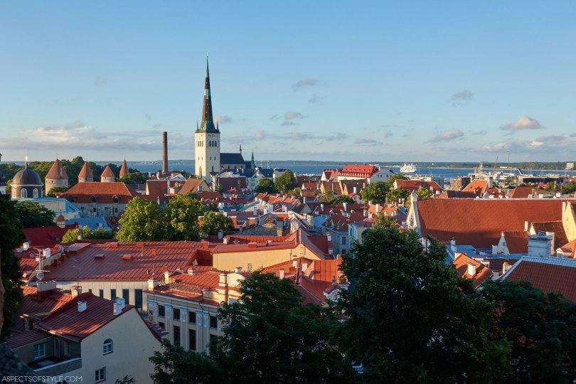 View from Kohtuotsa viewing platform, Tallinn, Estonia
