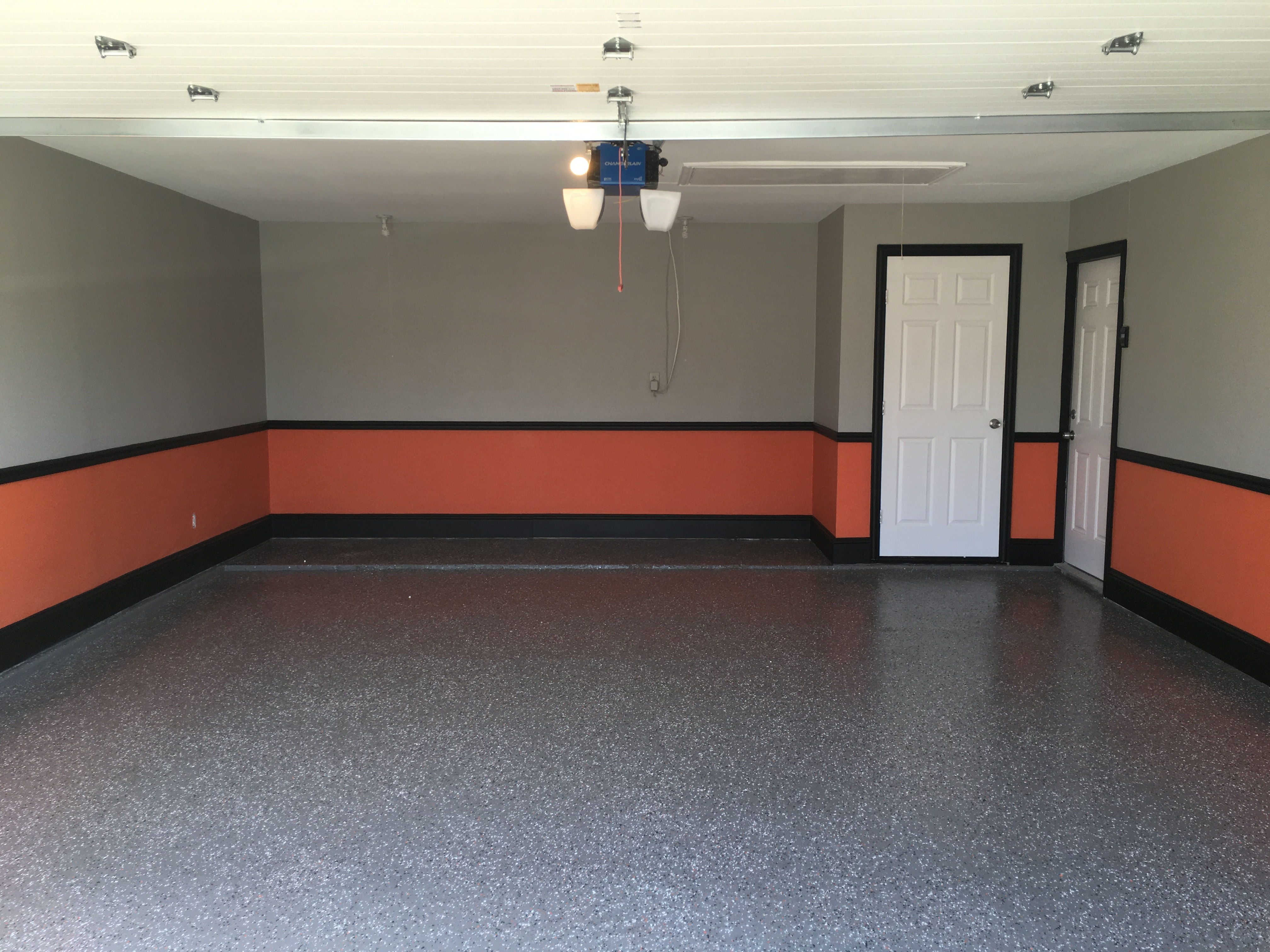 Harley Garage - ASPEN GROUP PAINTING on Garage Color Ideas  id=88171