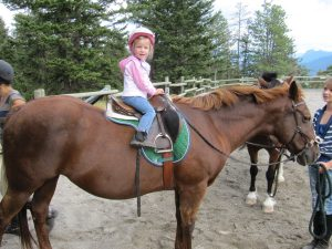 pony ride birthday party at Aspengrove Country Resort