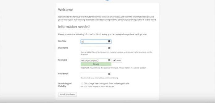 Wordpress-Install-Name-Site