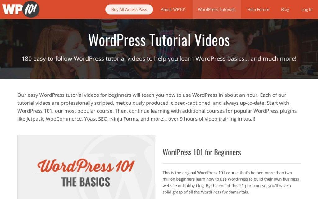 WP101 didacticiels WordPress