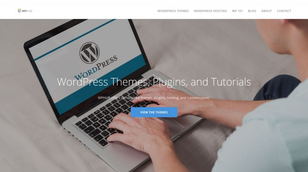 WPHub homepage
