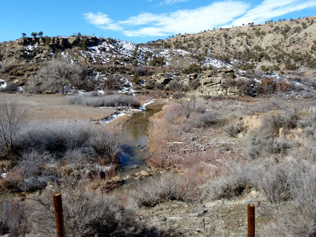 Lower West Divide Creek, the namesake of the West Divide Project.