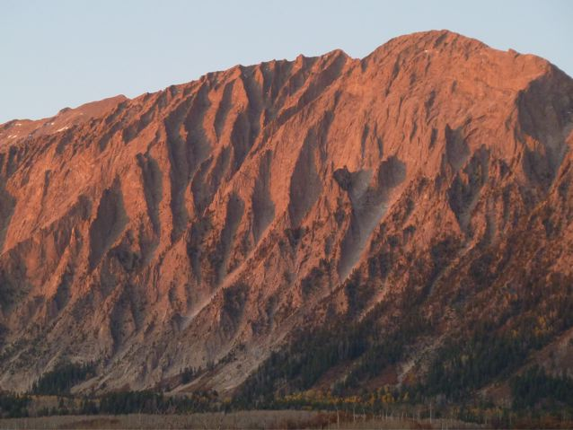 A view of Ragged Mountain at sunset.