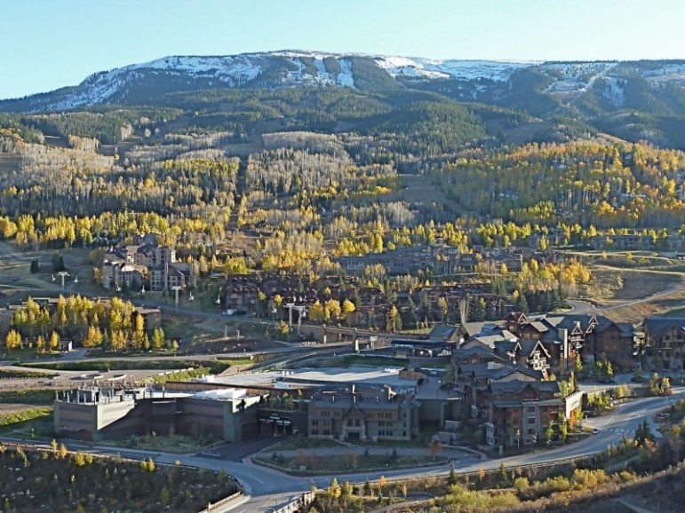 The unfinished Base Village project at the base of Snowmass Ski Area earlier this fall. The Viceroy hotel is out of the frame to the left.