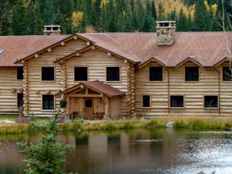 The former Elk Mountain Lodge building with a pond in the foreground. Billionaire Bill Koch now owns the lodge building and the two ponds on the property. The ponds are filled with water diverted from a tributary to Castle Creek. A water attorney in a lawsuit against the city of Aspen claims Koch has standing to sue the city because his junior water rights could be injured if the city moves forward with a proposed hydropower plant on lower Castle Creek.
