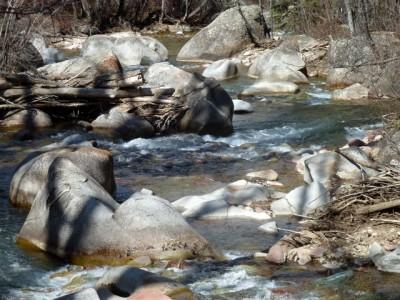 Castle Creek on April 9, 2012, flowing near the Marolt housing project.