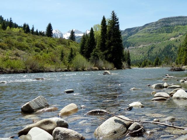 The Crystal River at Placita, looking upstream.