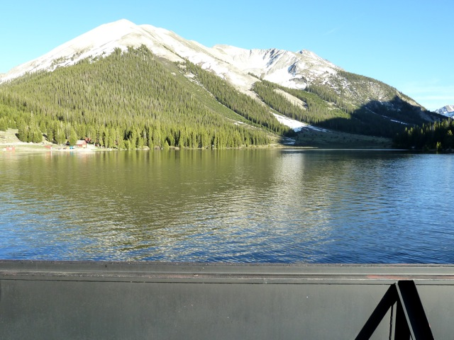 A full Grizzly Reservoir on June 25, 2011. The relatively small reservoir holds water until it can be diverted to the Front Range.