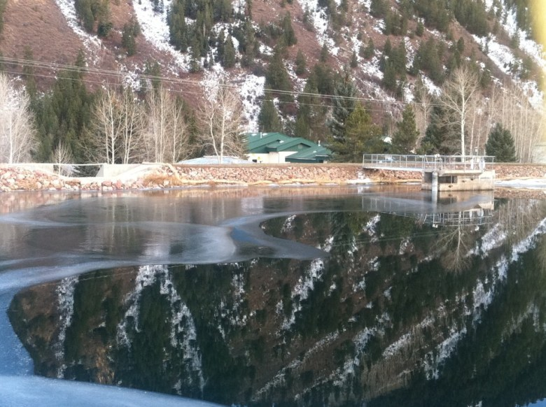 AFTER: A row of tall spruce trees that once grew on the east side of Thomas Reservoir in Aspen has been removed, along with the roots of the trees, for safety reasons. The directive from the state to cut down the trees came after the city made changes to the reservoir in anticipation of building a controversial hydroelectric plant.