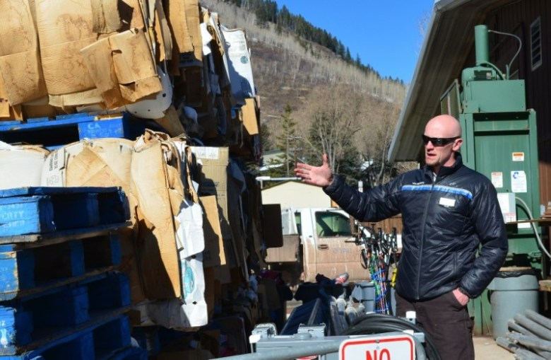 At the shop yard in Vail, the majority of the company's used materials — cardboard, steel, oil, plastic, rubber, wood, ski equipment and much more — is stored for eventual recycling or reuse. Senior Mountain Environmental Affairs Manager Luke Cartin says the yard is the all-important underbelly of sustainability at Vail Mountain.