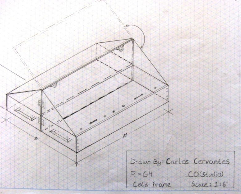 This technical drawing by Basalt senior Carlos Cervantes shows promise for an aspiring architect.