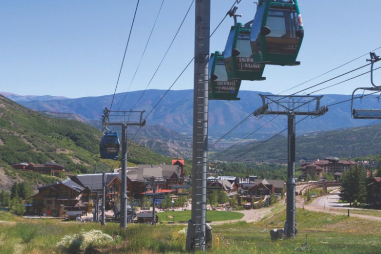 The Skittles lift connects the Snowmass Mall to Base Village. Metro district taxes paid by property owners are footing the bill for resort amenities, including the lift - during non-winter months- transportation center and parking garage.