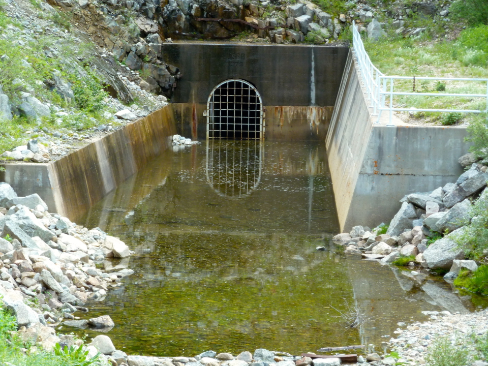 The end of the tunnel that delivers water diverted from Hunter, Midway and No Name creeks as part of the Fry-Ark Project. The City of Aspen says their is a lingering unmet obligation in the Fry-Ark Project to study the potential Castle Creek Reservoir.