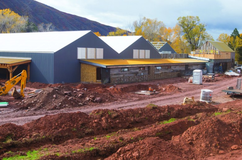 Construction is nearing completion for the new greenhouse, near Basalt, that will supply marijuana to the Silverpeak dispensary. Business owner Jordan Lewis is seeking a new water right in state water court to irrigate up to 3,000 plants at the facility.