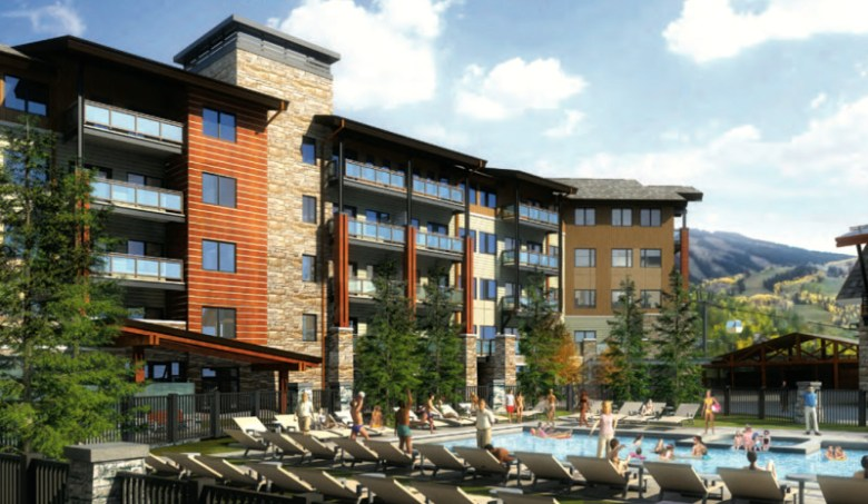 A rendering from a recent plan for Base Village submitted to the Town of Snowmass Village by a subsidiary of Related Cos.