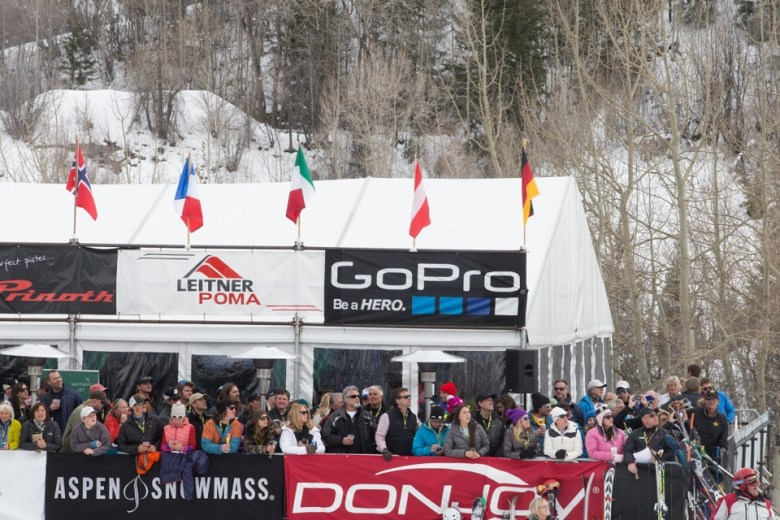The VIP tent at the 2014 World Cup ski races in Aspen.