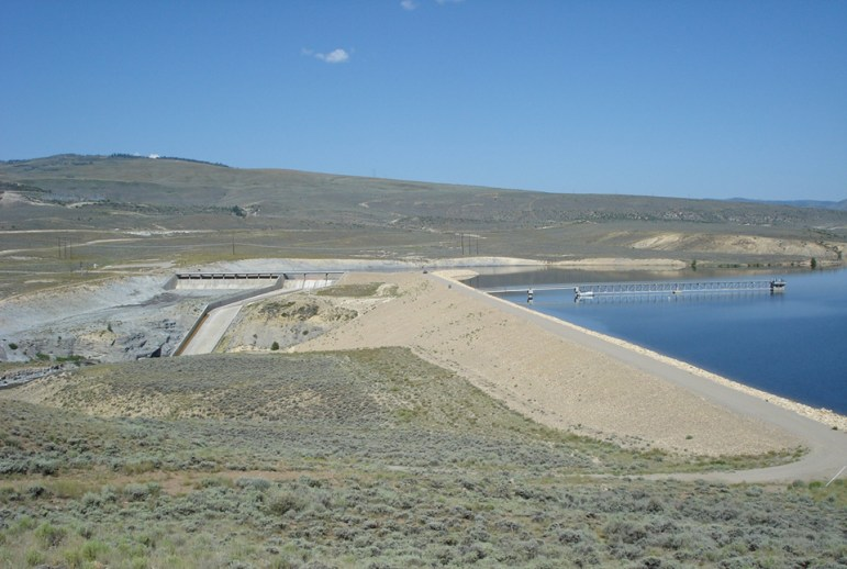 Ritschard Dam, which creates Wolford Reservoir on Muddy Creek north of Kremmling, is moving slightly, but steadily. The Colorado River District expects rehabilitation of he dam to be expensive.