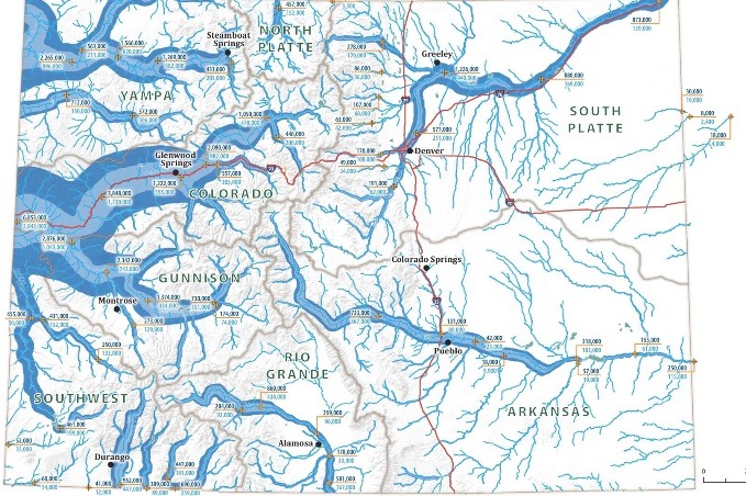 A flow map of Colorado's river helps illustrate why so much attention is paid to the Colorado River.