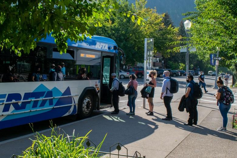 RFTA bus at Ruby Park