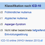 icd 10 autismus