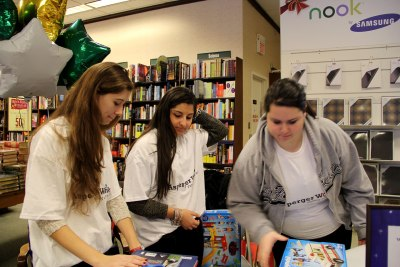 Julia King, Emma Kaloostia, and Lizzie Bowen, Haverhill High Honor Society