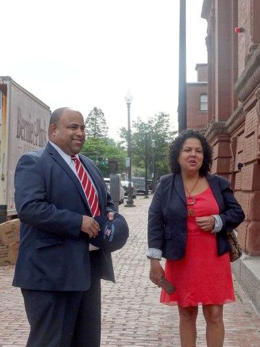 Mayor Dan Rivera and Neighborhood Planner Wendy Luzón