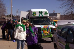 Eva & Lisa in front of NILP van