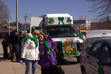 Eva & Lisa in front of NILP van