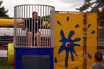 Waiting to be dunked