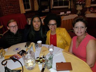 (r-l) Sarah & Shakira Perez, Juana Matias & her aide