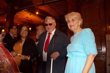 (r-l) Eva Rajczyk, Gerald Bouchet & aide