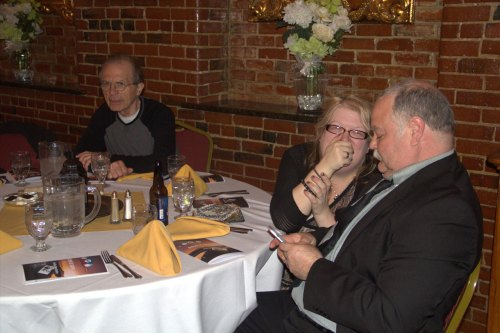 (r-l) Mr. & Mrs. Fred Simmons, Richard Katsiane
