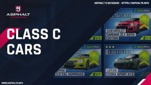 asphalt 9 class c cars