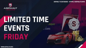 asphalt 9 limited time events friday
