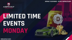 asphalt 9 limited time events monday