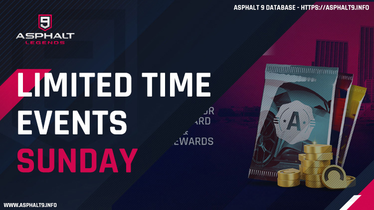 asphalt 9 limited time events saturday