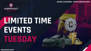 asphalt 9 limited time events tuesday