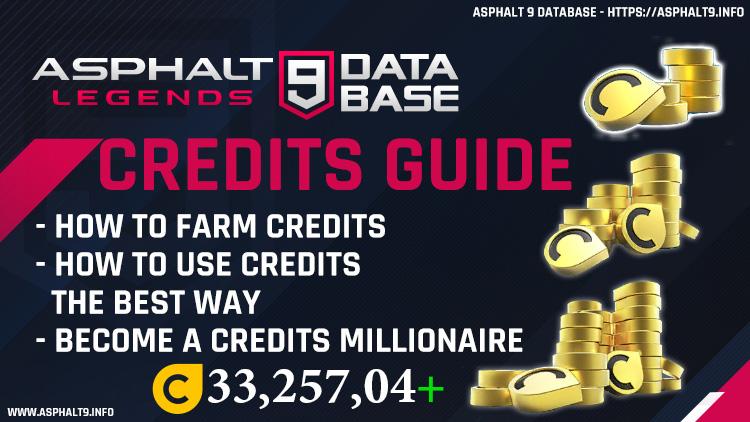Asphalt 9 Credits Guide Farm