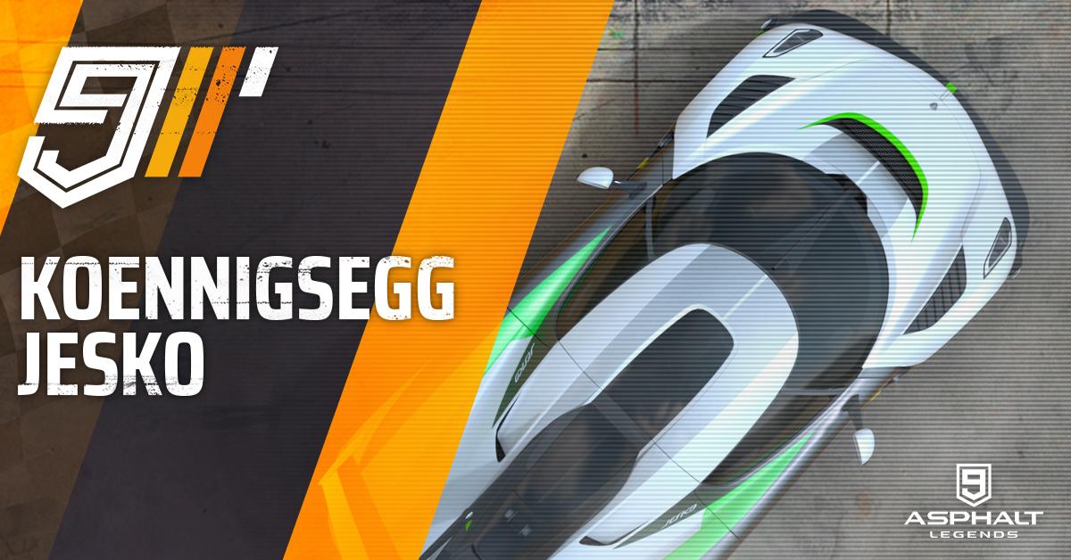 Асфальт 9 Koenigsegg Jesko большой приз